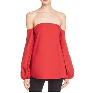 2 Red Theory Off The Shoulder Shirt